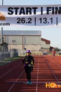 HC half marathon finish