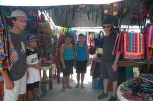 A stall at the market with nice crafts