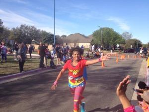 When I'm running well-fueled I feel like Wonder Woman!